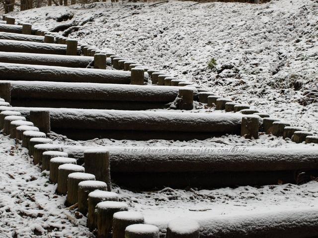 雪の山中城跡