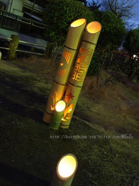 地口行灯の竹あかり④