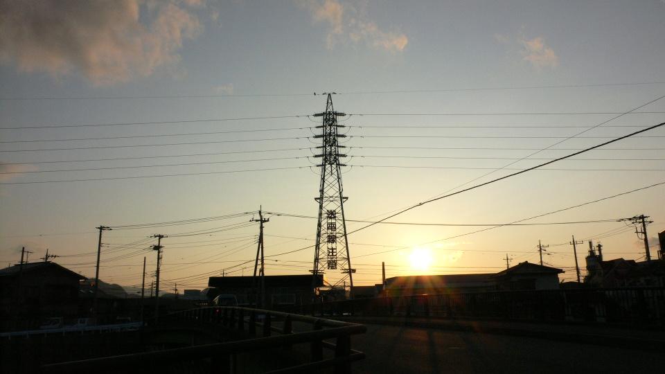 ALWAYS三島の夕日(^^ゞ