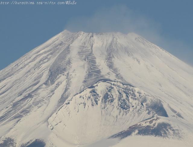 冬の登山道