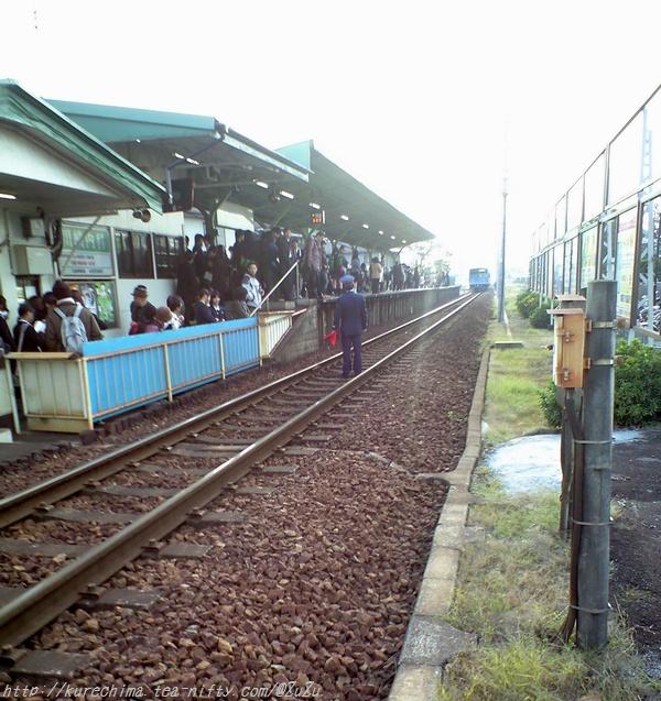 列車立ち往生(;^_^A
